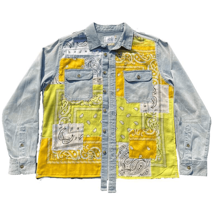Yellow Paisley Patchwork Shirt