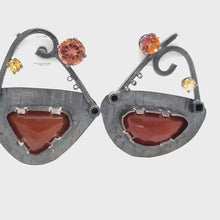 Load and play video in Gallery viewer, Carnelian Earrings