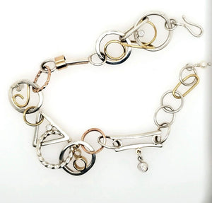 Sterling and Gold Bracelet - kim crocker designs