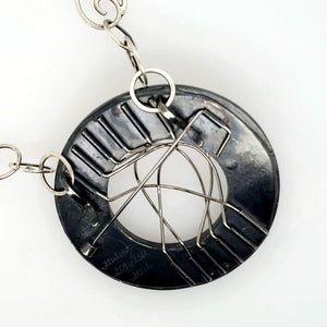 Stainless Steel and Sterling Silver Pin and Necklace - kim crocker designs