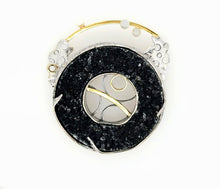 Load image into Gallery viewer, Black Drusy Pin