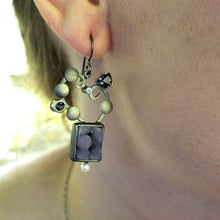 Load image into Gallery viewer, Grape Agate Earrings