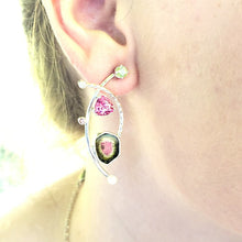 Load image into Gallery viewer, Watermelon Tourmaline Earrings