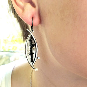 Black Coral Earrings - kim crocker designs