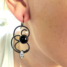 Load image into Gallery viewer, Black Onyx Earrings