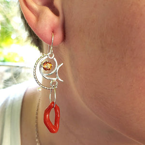 Red Coral Earrings - kim crocker designs