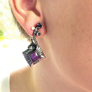 Sugilite Earrings - kim crocker designs