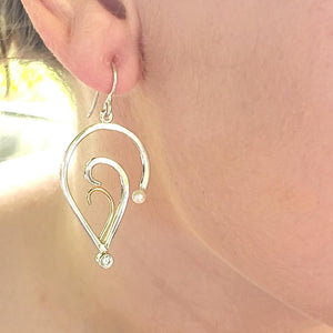 Sterling and 18k Gold Earrings