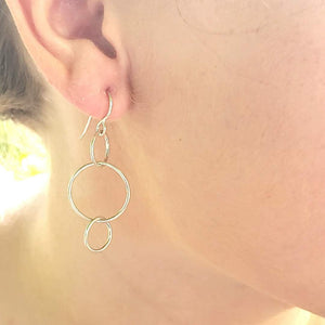 Circle Link Earrings - kim crocker designs