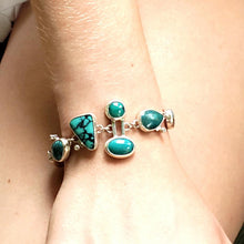 Load image into Gallery viewer, Turquoise Link Bracelet
