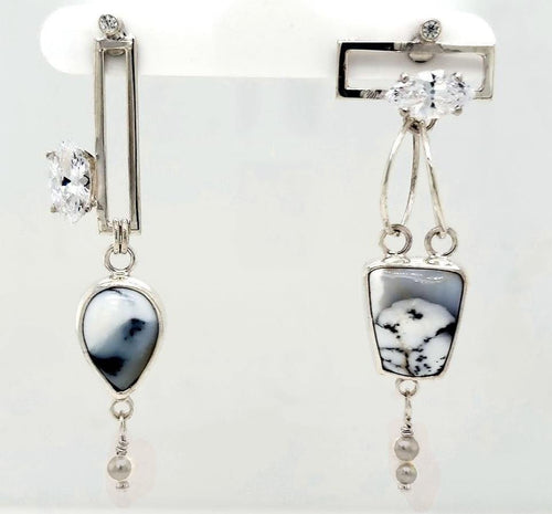 Dendritic Opal Earrings - kim crocker designs