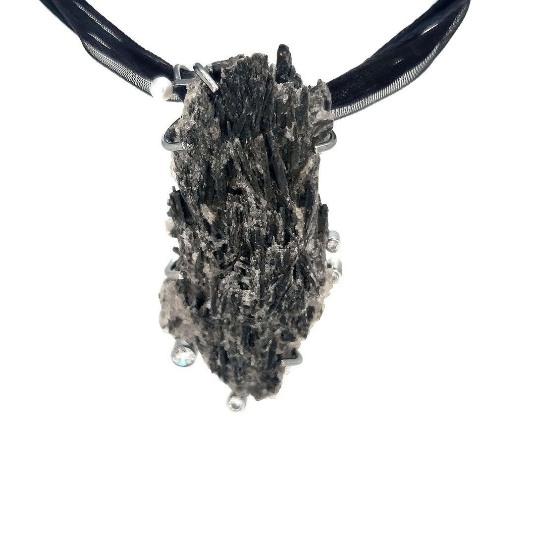 Black Kyanite Pendant - kim crocker designs