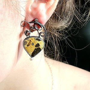 Chert Breccia Earrings - kim crocker designs
