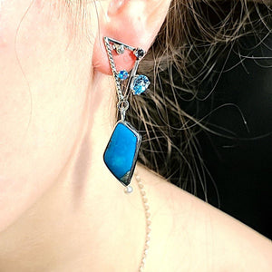 Turquoise Earrings - kim crocker designs