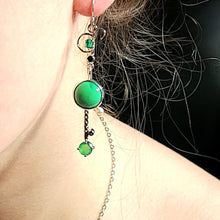Load image into Gallery viewer, Chrysoprase Earrings - kim crocker designs