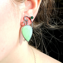 Load image into Gallery viewer, Citron Magnesite Earrings - kim crocker designs