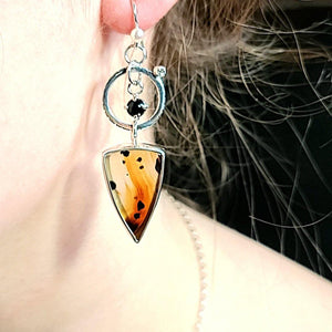 Montana Agate Earrings - kim crocker designs