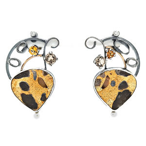 Chert Breccia Earrings