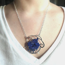 Load image into Gallery viewer, Azurite Drusy Necklace