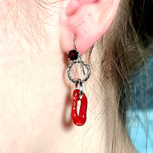 Load image into Gallery viewer, Italian Coral and Orissa Garnet Earrings
