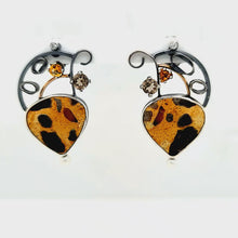 Load and play video in Gallery viewer, Chert Breccia Earrings