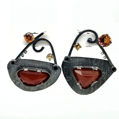 Carnelian Earrings - kim crocker designs
