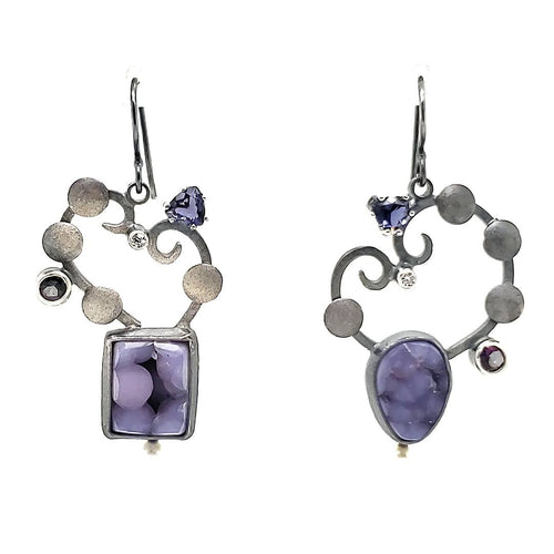 Grape Agate Earrings - kim crocker designs
