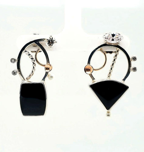 Black Onyx Earrings - kim crocker designs