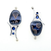 Load image into Gallery viewer, Blue Ceramic Earrings