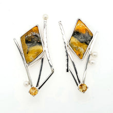 Load image into Gallery viewer, Bumblebee Jasper Earrings