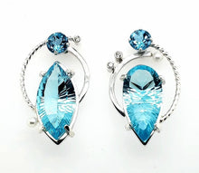 Load image into Gallery viewer, Blue Topaz Earrings - kim crocker designs