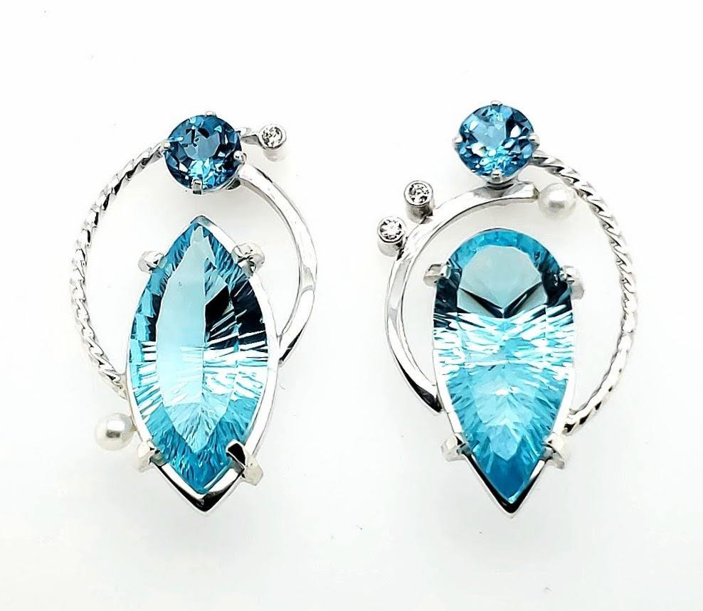 Blue Topaz Earrings - kim crocker designs