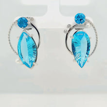 Load and play video in Gallery viewer, Blue Topaz Earrings
