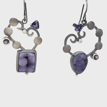 Load and play video in Gallery viewer, Grape Agate Earrings