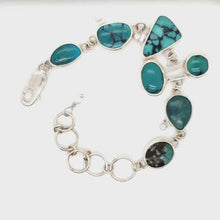 Load and play video in Gallery viewer, Turquoise Link Bracelet
