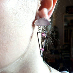 Rose Quartz Earrings - kim crocker designs