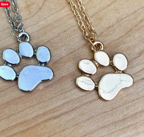 Fur Baby Paw Necklace