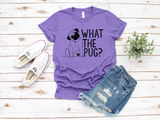 """What The Pug"" Premium Short Sleeve Tees - Pug and Grumble"