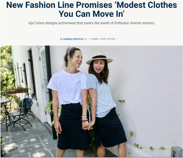 New Fashion Line Promises 'Modest Clothes You Can Move In' - modest - modest fashion - hannah dreyfus - jewish week - modest activewear - activewear - modest - black skirt - skirts
