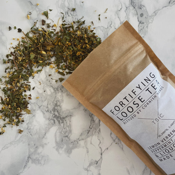 Fortifying Loose Tea - The St. Ives Co. Cornwall Cornish Souvenir Holiday beach Gift Tea Relaxing Strength Wellness Mindfulness Healthy Calming Break Chill
