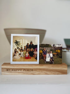 My Happy Place Wooden Photo Holders - The St. Ives Co. Cornwall Cornish Souvenir Holiday beach