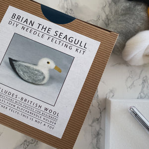 Brian the Seagull DIY needle felting kit - The St. Ives Co. Cornwall Cornish Souvenir Holiday beach