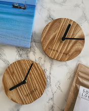 Load image into Gallery viewer, St. Ives Woodcraft Desk Clock - The St. Ives Co. Cornwall Cornish Souvenir Holiday beach