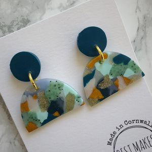 Best Makes X TSIC Colourful Block Earrings Gift Beauty Present Handmade Design Accessory Beauty Clay
