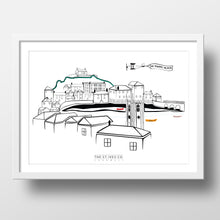Load image into Gallery viewer, Bright Classic St. Ives View Print - The St. Ives Co. Cornwall Cornish Souvenir Holiday beach