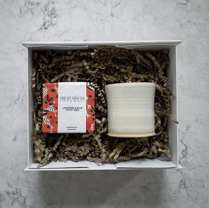 Scented Soy Wax Candle & Handmade Soap Hamper Gift St Ives Cornwall Cornish Present One Of A Kind