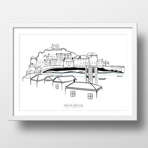Classic St. Ives View Print - The St. Ives Co. Cornwall Cornish Souvenir Holiday beach