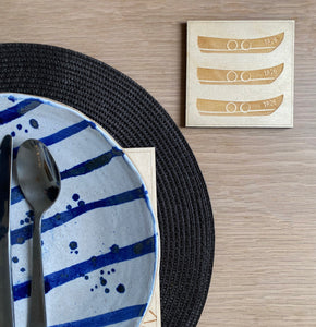 Original TSIC TR26 Boat engraved wooden Coasters // Pack of 2 - The St. Ives Co. Cornwall Cornish Souvenir Holiday beach