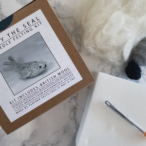Sammy the Seal DIY needle felting kit - The St. Ives Co. Cornwall Cornish Souvenir Holiday beach