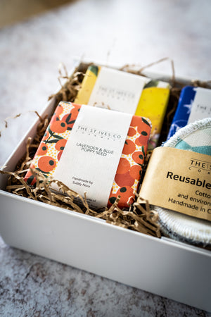 Three Handmade Cornish Soaps Eco Face Wipes Hamper St Ives Gift Present Seaside Idea Best For Him For Her